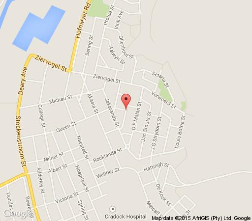 Map 7 Cities Guesthouse in Cradock  Stormberg District  Eastern Cape  South Africa