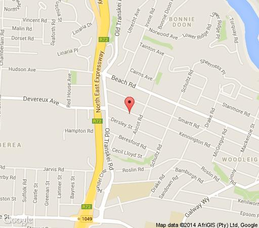 Map AnnBil Accommodation in Nahoon  East London  Amatole  Eastern Cape  South Africa