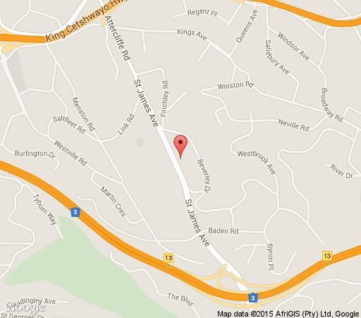 Map Red Tudor Bed & Breakfast in Westville  Western Suburbs (DBN)  Durban and Surrounds  KwaZulu Natal  South Africa