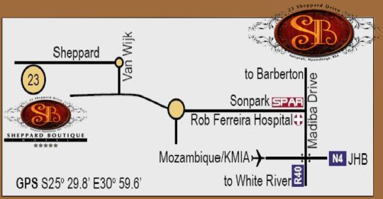 Map Sheppard Boutique Hotel in Nelspruit  Lowveld  Mpumalanga  South Africa