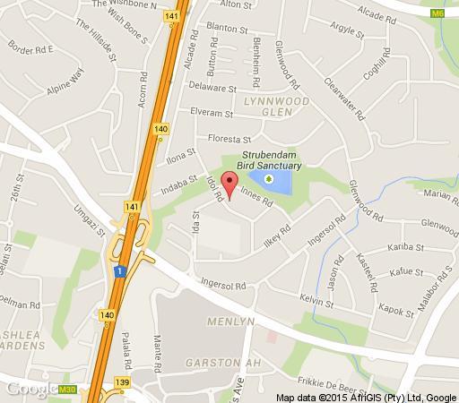 Map Idolat 47 in Lynnwood Glen  Pretoria East  Pretoria / Tshwane  Gauteng  South Africa