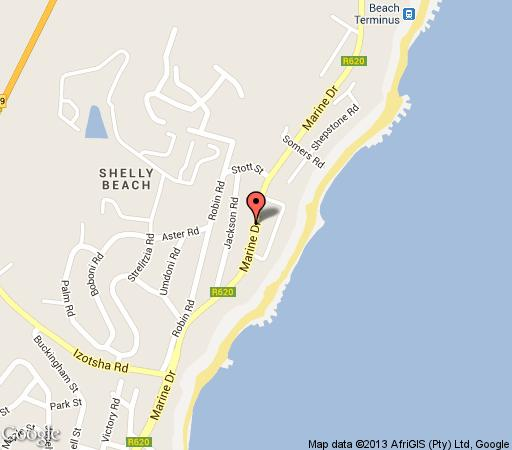 Map Strathern House in Shelly Beach  South Coast (KZN)  KwaZulu Natal  South Africa