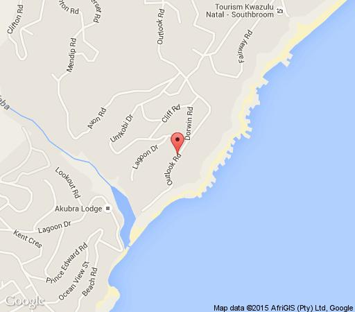 Map Alan\'s Rest in Southbroom  South Coast (KZN)  KwaZulu Natal  South Africa