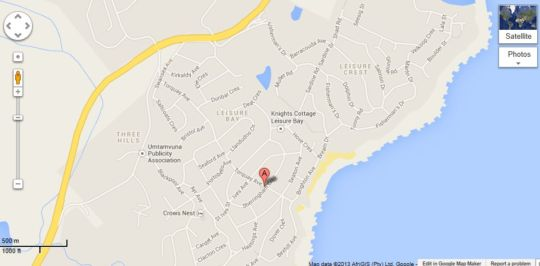 Map Gatto Grasso in Leisure Bay  South Coast (KZN)  KwaZulu Natal  South Africa