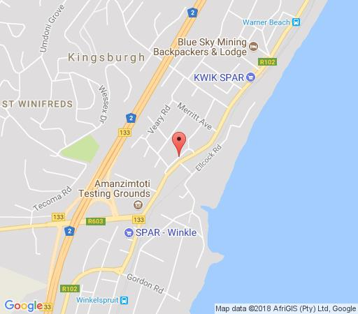 Map Akidogo Guest House in Amanzimtoti  South Coast (KZN)  KwaZulu Natal  South Africa