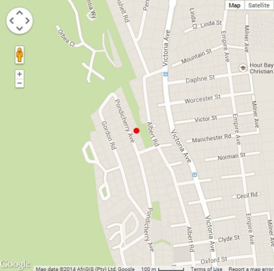 Map Somersby Guest House in Hout Bay  Atlantic Seaboard  Cape Town  Western Cape  South Africa