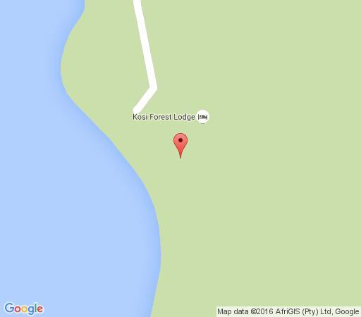 Map Kosi Forest Lodge in Kosi Bay  Zululand  KwaZulu Natal  South Africa
