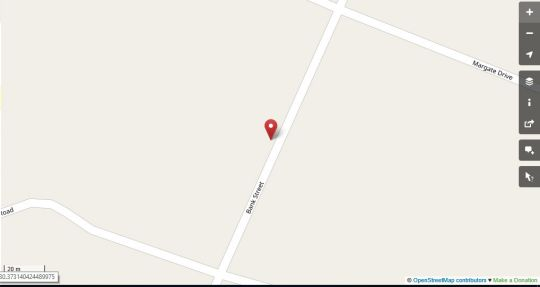 Map Anchorage main house in Margate  South Coast (KZN)  KwaZulu Natal  South Africa