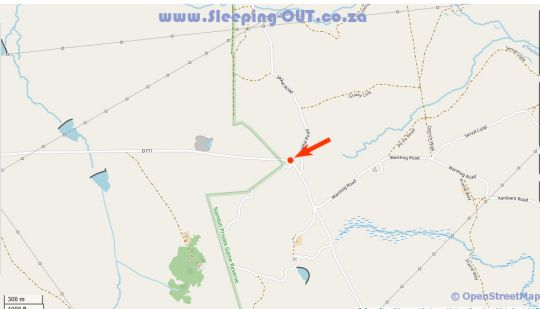 Map Lions Valley Lodge in Ladysmith  Battlefields  KwaZulu Natal  South Africa