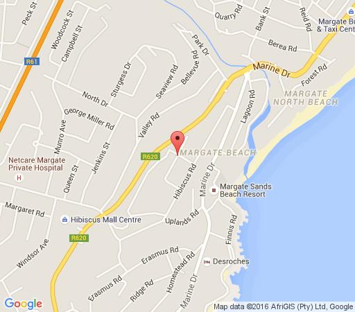 Map Angelina\'s in Margate  South Coast (KZN)  KwaZulu Natal  South Africa