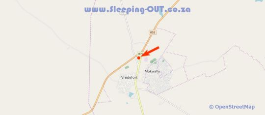 Map Knopberg  in Parys  Fezile Dabi (Northern Free State)  Free State  South Africa