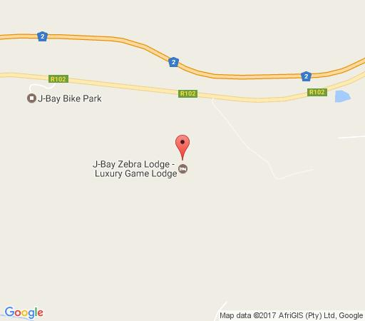 Map Mountain Bike Park House in Jeffreys Bay  Cacadu (Sarah Baartman)  Eastern Cape  South Africa