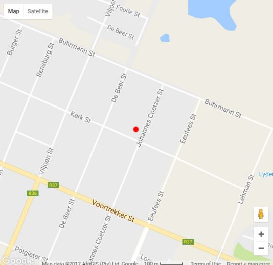 Map Ikhanda Guesthouse in Lydenburg  Highlands  Mpumalanga  South Africa