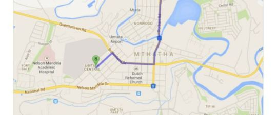 Map Number 52 Blakeway in Mthatha (Umtata)  Wild Coast  Eastern Cape  South Africa