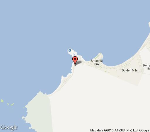 Map Cape St Millies in Britannia Bay  West Coast (WC)  Western Cape  South Africa