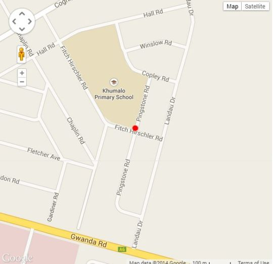 Map \'Ndlovukazi\' Bulawayo Villa in Bulawayo  Zimbabwe