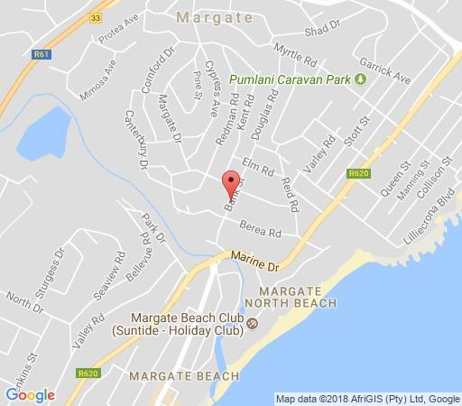 Map Anchorage Cottage A3 in Margate  South Coast (KZN)  KwaZulu Natal  South Africa