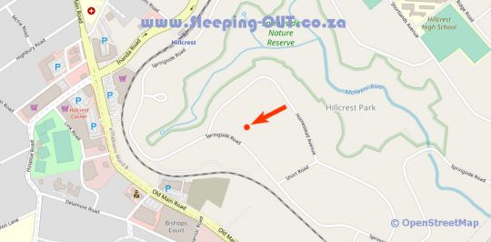 Map Khululeka Lodge in Hillcrest  Western Suburbs (DBN)  Durban and Surrounds  KwaZulu Natal  South Africa