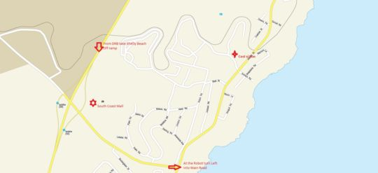 Map 64 Cest Si Bon in Shelly Beach  South Coast (KZN)  KwaZulu Natal  South Africa