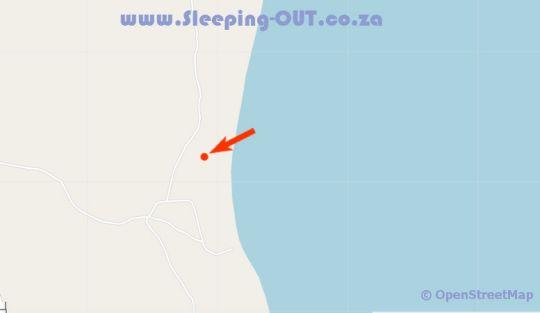 Map Casa De Cocos Mozambique in Guinjata Bay  Jangamo District  Inhambane  Mozambique