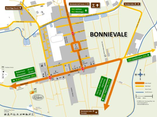 Map Beausoleil in Bonnievale  Breede River Valley  Western Cape  South Africa