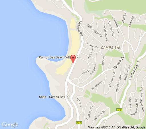 Map Victoria Cove in Camps Bay  Atlantic Seaboard  Cape Town  Western Cape  South Africa