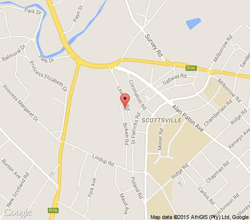 Map Pmb Backpackers Lodge in Scottsville  Pietermaritzburg  Midlands  KwaZulu Natal  South Africa