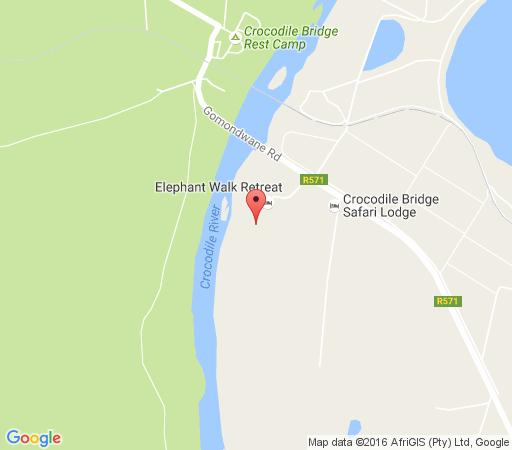 Map Crocodile Bridge Safari Lodge in Komatipoort  Lowveld  Mpumalanga  South Africa