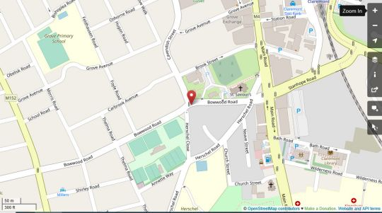 Map Apartment 14, Herschel Court in Claremont  Southern Suburbs (CPT)  Cape Town  Western Cape  South Africa