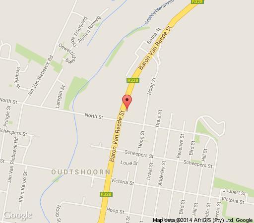 Map Rosenhof Country House in Oudtshoorn  Klein Karoo  Western Cape  South Africa