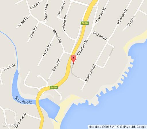Map Empoza Sea View  in Ramsgate  South Coast (KZN)  KwaZulu Natal  South Africa