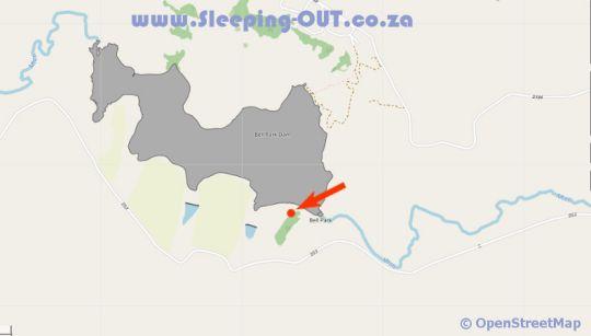 Map Clivia Hill Guest Cottage in Champagne Valley  Central Drakensberg  Drakensberg (KZN)  KwaZulu Natal  Afrique du Sud
