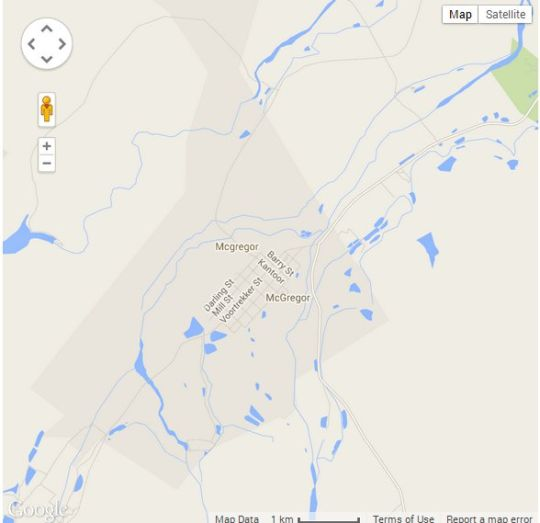 Map Pinotage House in McGregor  Breede River Valley  Western Cape  South Africa