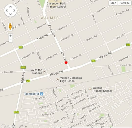 Map Masinga Apartment in Walmer  Port Elizabeth  Cacadu (Sarah Baartman)  Eastern Cape  South Africa