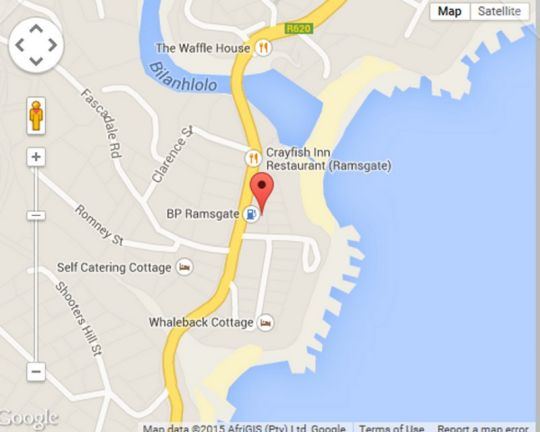Map Ramsgate Beach Motel in Ramsgate  South Coast (KZN)  KwaZulu Natal  South Africa