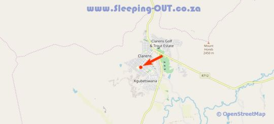 Map Knock out View in Clarens  Thabo Mofutsanyana  Free State  South Africa