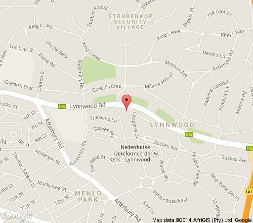 Map First Guesthouse in Lynnwood  Pretoria East  Pretoria / Tshwane  Gauteng  South Africa