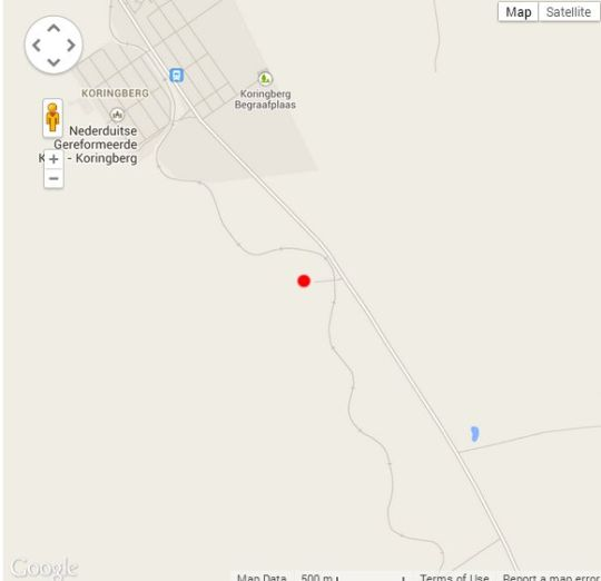 Map Vleidam Guest Farm in Koringberg  Swartland  Western Cape  South Africa