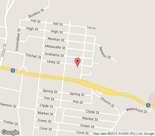 Map La Maison Bleue in Knysna  Garden Route  Western Cape  South Africa