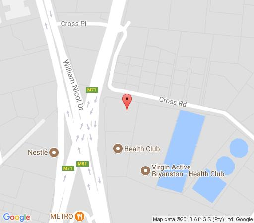 Map Fountain Hill Guest House in Bryanston  Sandton  Johannesburg  Gauteng  South Africa