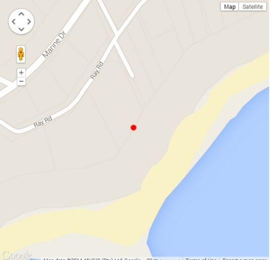 Map Calamari 11 in Ramsgate  South Coast (KZN)  KwaZulu Natal  South Africa