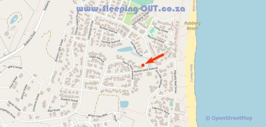 Map Rothersand 16 in Plettenberg Bay  Garden Route  Western Cape  South Africa