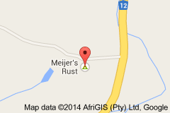 Map Meijersrust in De Rust  Klein Karoo  Western Cape  South Africa