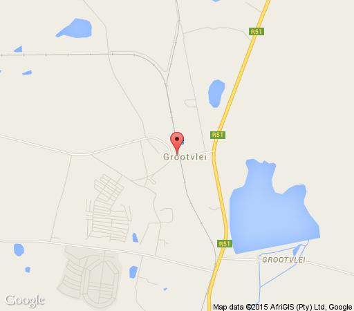 Map Olive Grove Country Lodge in Grootvlei  Cosmos Country  Mpumalanga  South Africa