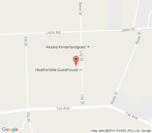 Map Heatherdale Guest House  in Akasia  Pretoria North  Pretoria / Tshwane  Gauteng  South Africa