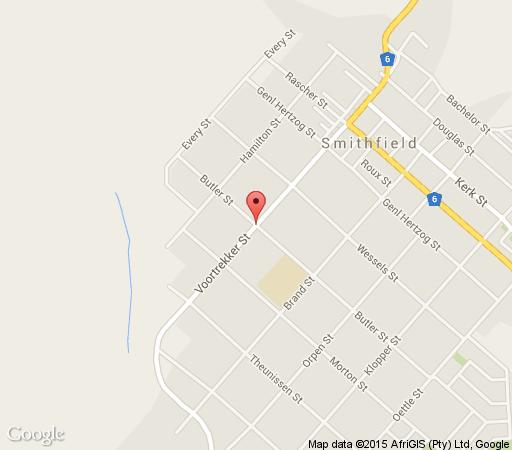 Map Lazy Likkewaan in Smithfield  Xhariep (Southern Free State)  Free State  Suid-Afrika