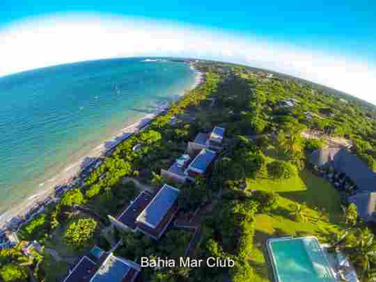 Map Bahia Mar Club in Vilanculos  Inhambane  Mozambique