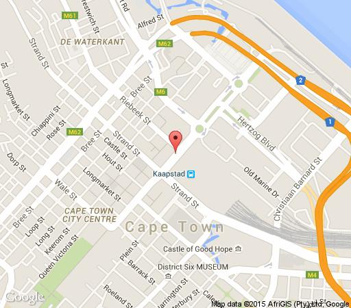 Map Afribode Accommodation - Cartwright  in Cape Town CBD  City Bowl  Cape Town  Western Cape  South Africa