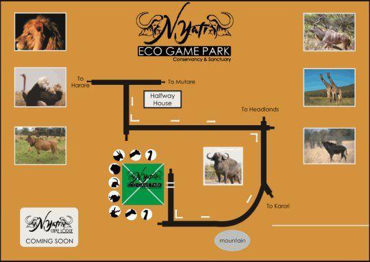 Map Nyati Eco Game Park in Marondera  Zimbabwe