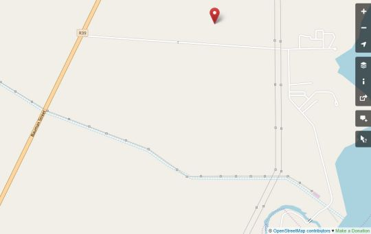 Map Verblyden Gastehuis in Standerton  Cosmos Country  Mpumalanga  Zuid-Afrika
